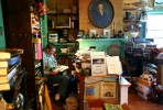 books, bookstore, bank, portrait, seller, piles, stacks, crowded