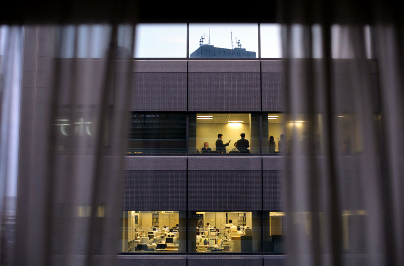Japan, business, office, employees, meeting, windows, urban, work