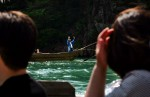Japan, river, boat, wave, water, tourists, travel, ride