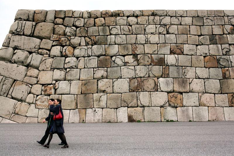 castle, Japan, couple, walk, old, ancient, government, park