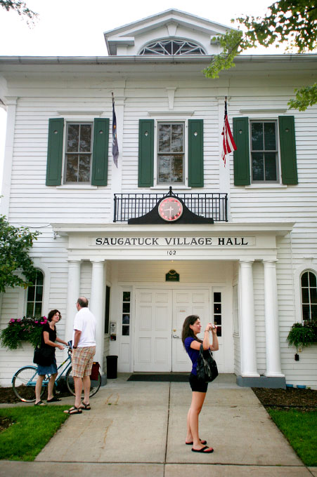 The Saugatuck Village Hall has been in continuous use for over 130 years, and is listed on Michigan's State Register of Historic Places.