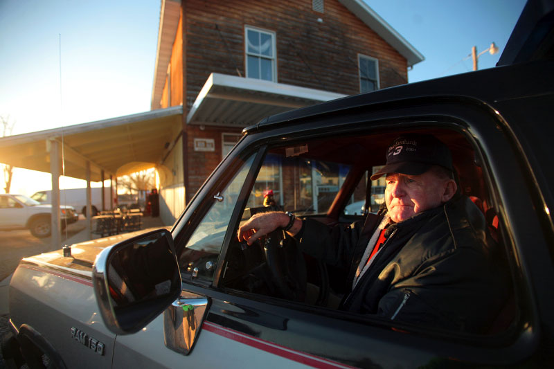 Situated less than three miles from the geographic center of the United States, Edgar Springs, Missouri is home to Gene Blake, 67, retired chief of the Edgar Springs Fire Department. With fewer than 300 residents, many residents are feeling negative effects of the economic downturn. Blake said the department could use a new fire engine, but the town funds can't support the purchase.