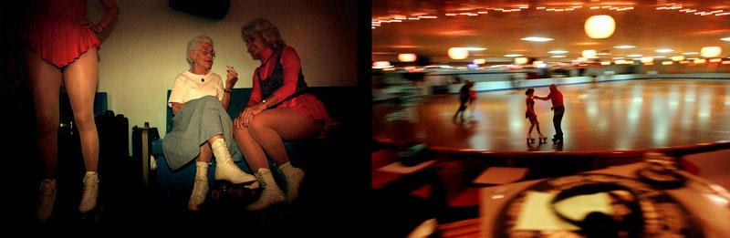 elderly, roller skate, roller rink, skates, leotard, dancing, skating, nostalgia, americana