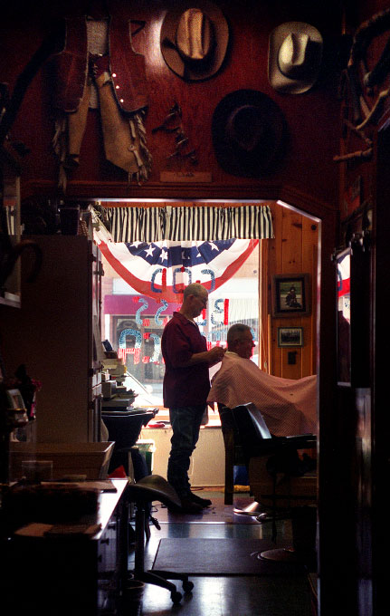 Panther Barber Shop, Panhandle, Texas