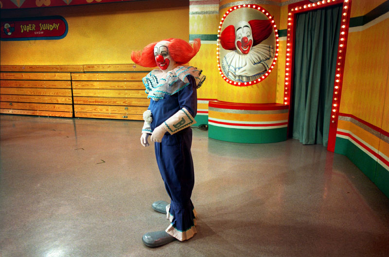 Bozo the Clown on set at the WGN studios, Chicago