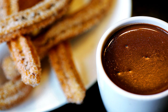 Barcelona hot chocolate and handmade churros at Xoco, Chicago