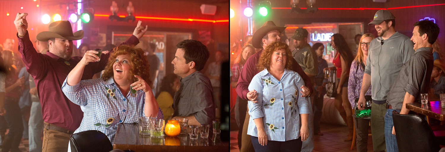 Eric Stonestreet, Melissa McCarthy, Jason Bateman, {quote}Identity Thief{quote}.   Right, Director Seth Gordon.