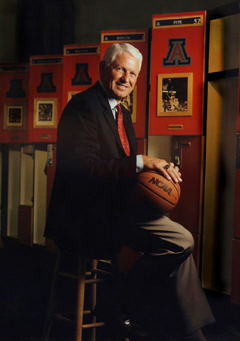 University of Arizona basketball head coach Lute Olson