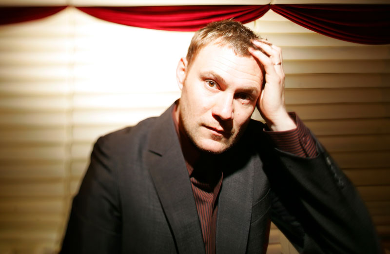 "Portrait of David Gray, at Avalon Superclub in Boston.  Gray is in town promoting his upcoming album, ""Life in Slow Motion."""