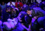 Ron Luce prays with teenagers who came forward during an alter call at Acquire the Fire, a evangelical Christian event aimed at bringing teenagers back into the religious fold.