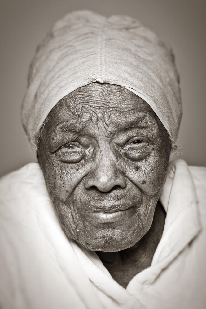 <b>Name:</b>Virginia<b>Age:</b>114<b>Year born:</b>1894<b>Date photographed:</b>February 18, 2008<b>City of birth:</b>Vaughen, MS<b>Ethnic heritage:</b>African American<b>Something you have always wanted to do:</b>Help the sick<b>Most life-changing event that has happened to you:</b>Moving to Chicago in 1951<b>What would people be surprised to learn about you:</b>People are surprised to learn that I am in my 114th year of age