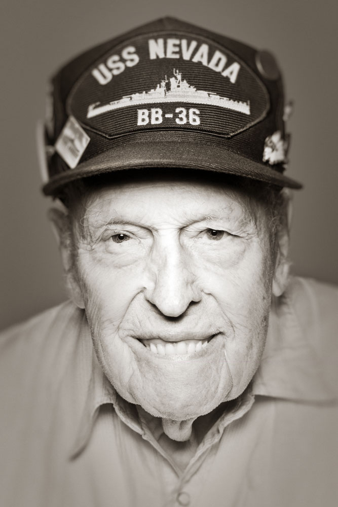 Name:LaVerneAge:88Date photographed:May 24, 2007City of birth:Rockford, ILEthnic heritage:SwedishOccupation:Supervisor of Buildings and Grounds at a public libraryMilitary experience:6 years in the NavyWar(s) in which you served:WWII-3 ships: USS Nevada, USS Chester, and USS Essex - at Pearl Harbor and in the PacificMost life-changing event that has happened to you:Surviving the attack of Pearl Harbor on the USS Nevada (they lost 55 people) which was behind the USS ArizonaWhat would people be surprised to learn about you:I was a boiler room machinist on the USS Nevada at Pearl HarborWhat would your dream job be:Work at a hospital or public library-get to meet people