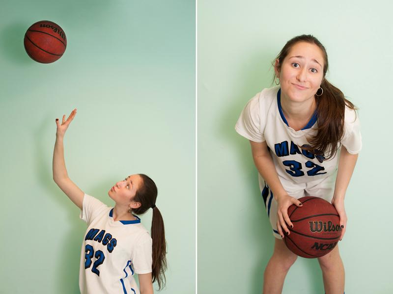 Portrait of basketball player Stephanie Greenberg. By photographer Adena Stevens