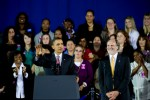 President Barack Obama and New Jersey Governor Jon Corzine at a rally for Corzine's re-election campagin at Fairleigh Dickinson University (FDU) in Teaneck, New Jersey by photographer Adena Stevens
