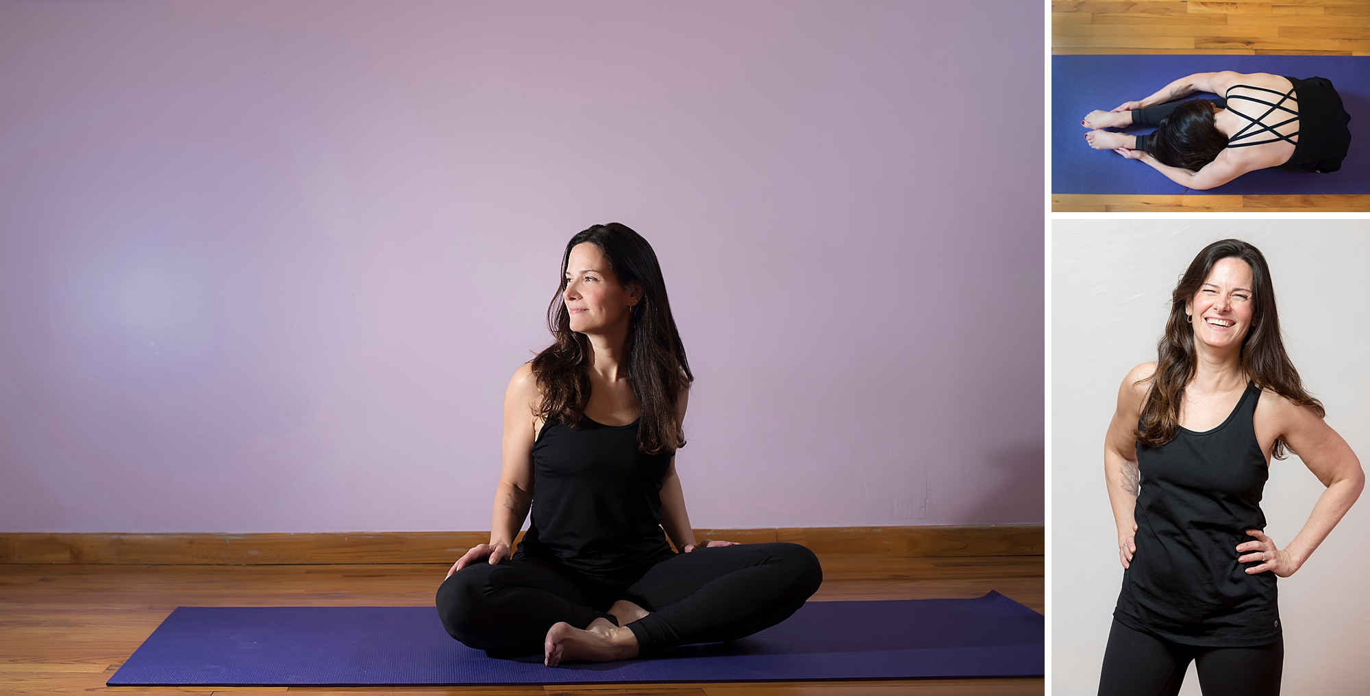 Lena was recently certified in teaching yoga and needed photos to share with the yoga studios were she would be teaching.