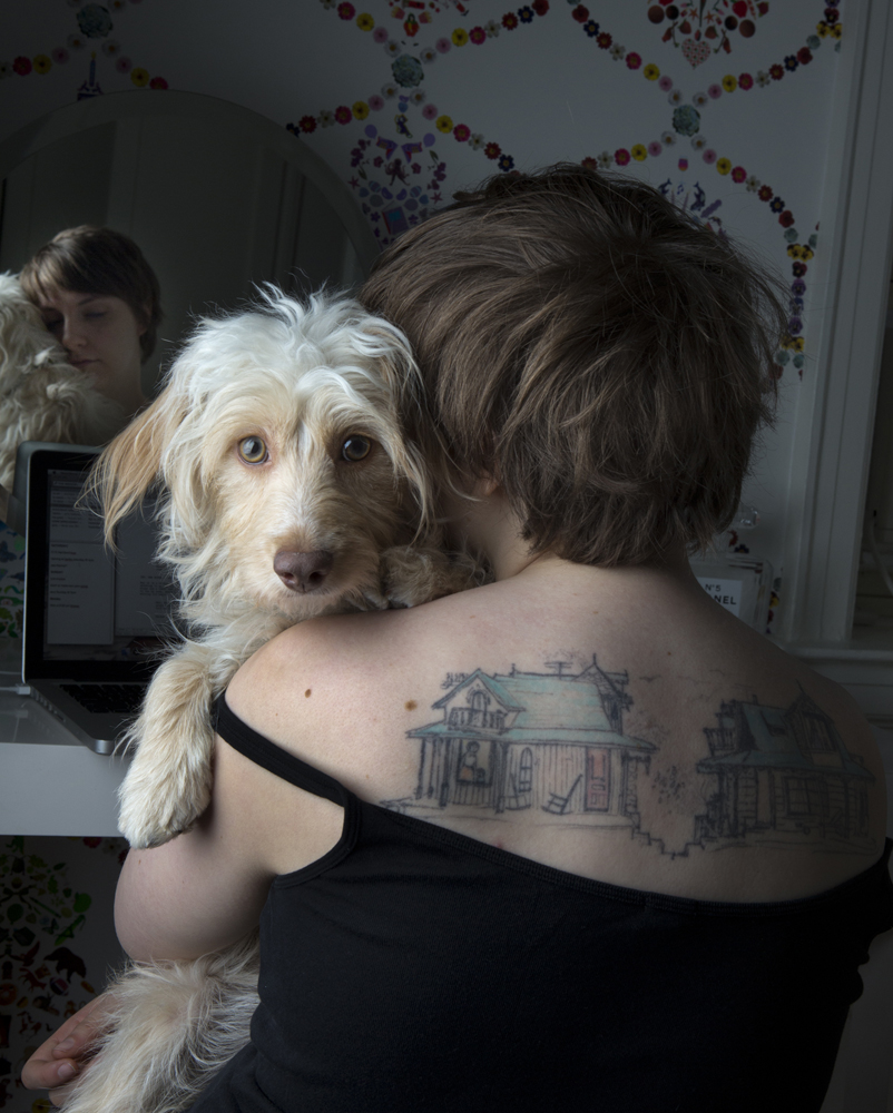 Lamby & Lena Dunham, Outtake for New Yorker Mag