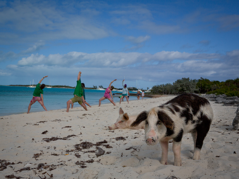 Sunday Morning Yoga on Major Cay