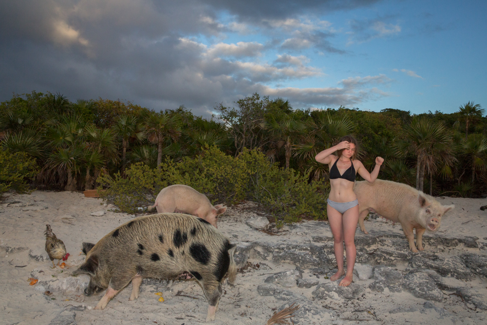Me Channeling Rousseau - Amelia and Pigs