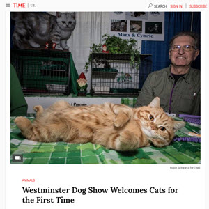 Time.com StoryMeet the Breeds Westminster (WKC) 14 photographs & Stories on Instagram
