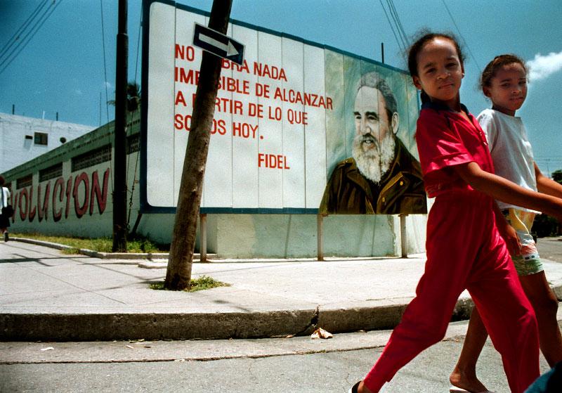 A Fidel Castro mural in Havana Cuba