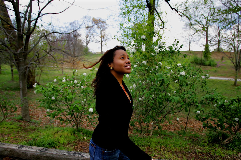 Raquel Gayle took a stroll in Atlanta's historic Grant Park.