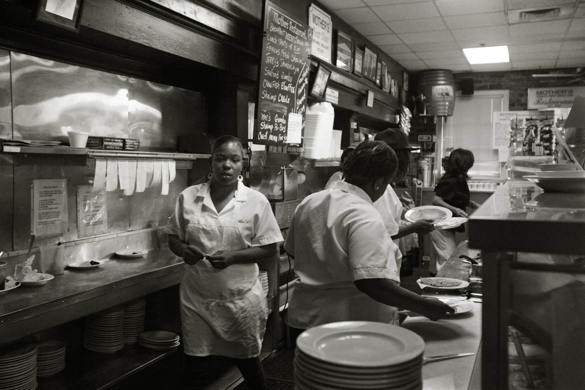 Mother's Restaurant located at 401 Poydras St was one of the first restaurants to come back. They have their Katrina story written on the back of their menus:. When they returned after the storm and flood, the owners tried to locate their employees, bringing back longtime staff, considered part of the Mother's FAMILY. Many of them had lost their homes, so nine FEMA trailers were brought in to the parking lot next door where they stayed. On Oct 15th Mother's reopened. Vice Admiral Thad Allen , the head of the disaster relief effort, was their first customer. Although their menu was limited and hours shorter, as locals returned city, they came back to Mother's. Today it still is a favorite with locals, especially going to the Saints games down the street at the Superdome,  but it also a big tourist draw.