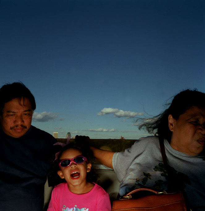 Aurora and Abe Lazaro with granddaughter Maia Radcliffe (4).