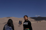 Dechen Drukpa, 14, looks over the landscape at the Great Sand Dunes National Park and Preserve in Colorado on Sept. 2, 2017. It's the first time she visited the park.