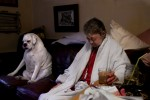 Sassy keeps Gloria company on one of her last days while her health continued to declined. Family members commented on how Gloria's sickness impacted Sassy's behavior as the dog seemed more depressed and anxious as Gloria continued to get worse.
