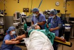 Doctors prepare Glorianne for surgery at the Connecticut Children's Medical Center.