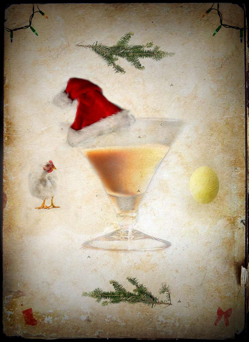 An illustration for a story on egg nog.