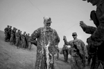 It's a light moment as Matthew Moriarty gets sprayed with silly string at Camp Adder in Iraq for his birthday – he just turned 20 years old. {quote}It makes Iraq that much better,{quote} said Moriarty. {quote}You don't get silly-stringed everyday.{quote} Moriarty is from Chesterfield.