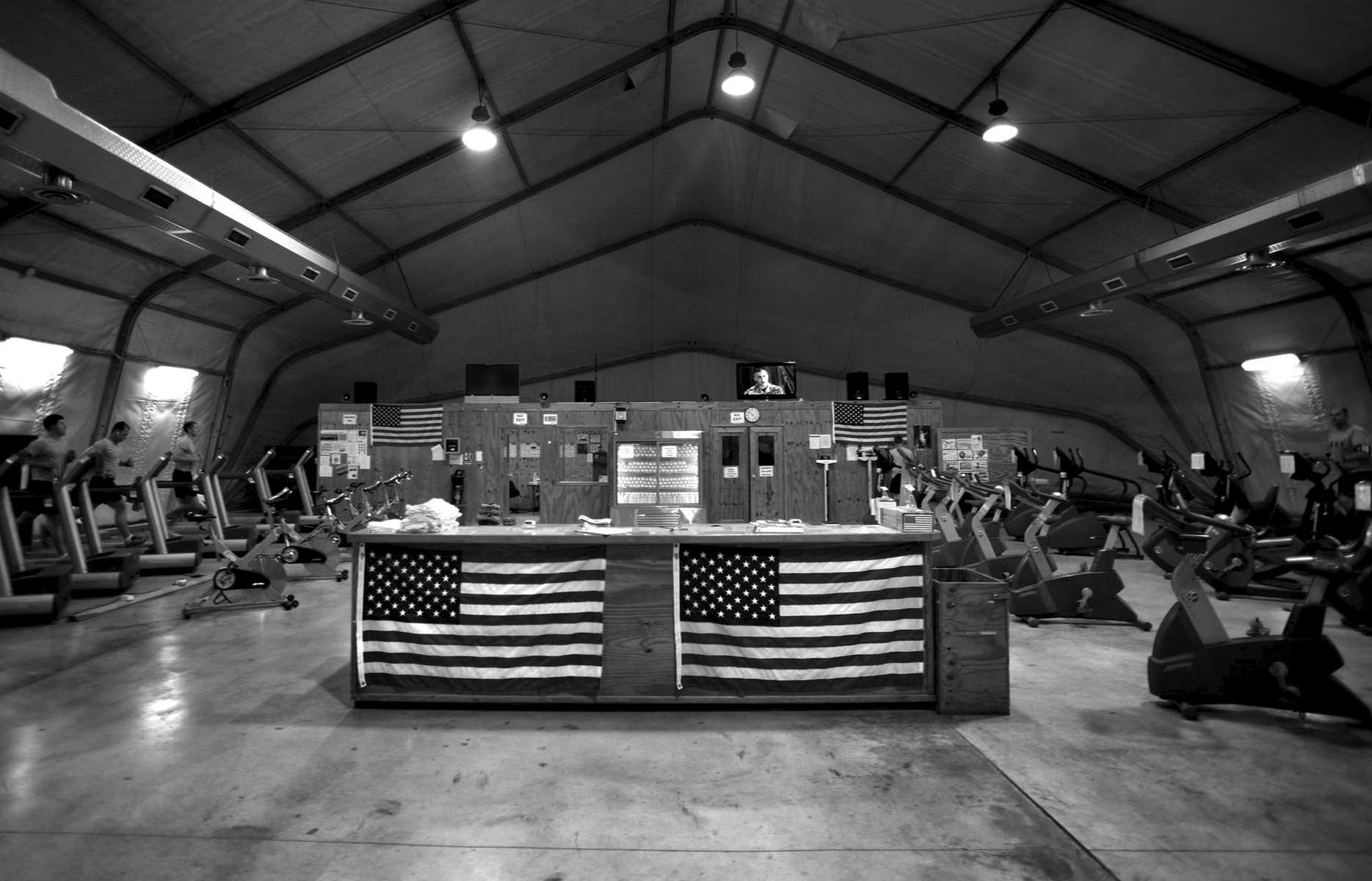 As fewer soliders are needed in Iraq, places like this workout facility in Camp Adder become more deserted.