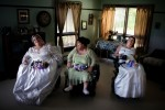 Theresa Rogenski waits in her apartment with her bridesmaids Wanda Schmitt and Barbara Pedenski before her wedding.