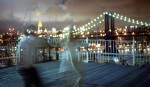 ...a marvelous night for a moondance.  Brooklyn Bridge, New York, 2005.