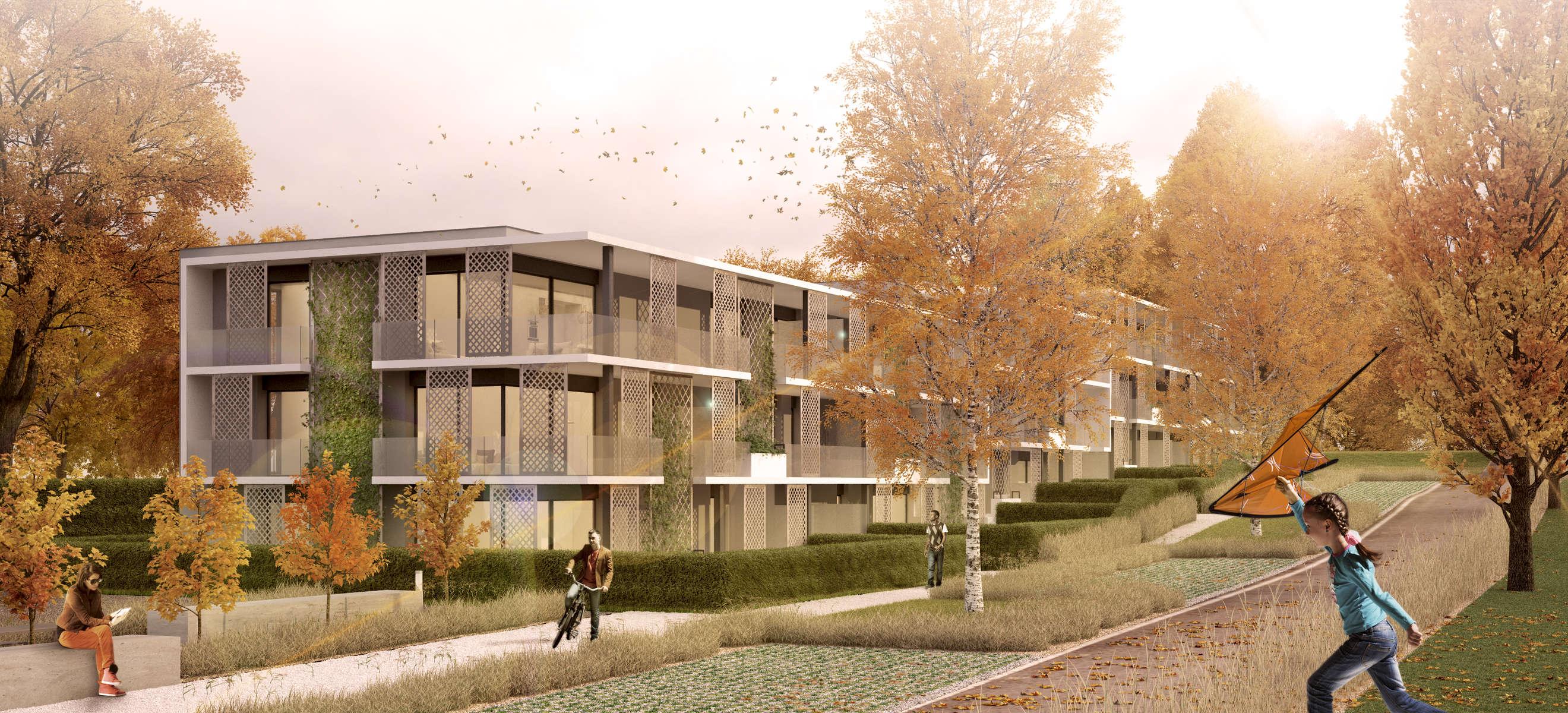 (ris+partenaires 2015 en cours)Projet: Constructon de 22 logements HPECollonge-Bellerive - SuisseSurface: 2'115 m2Chef de projet:Antoine RisMandat: Projet