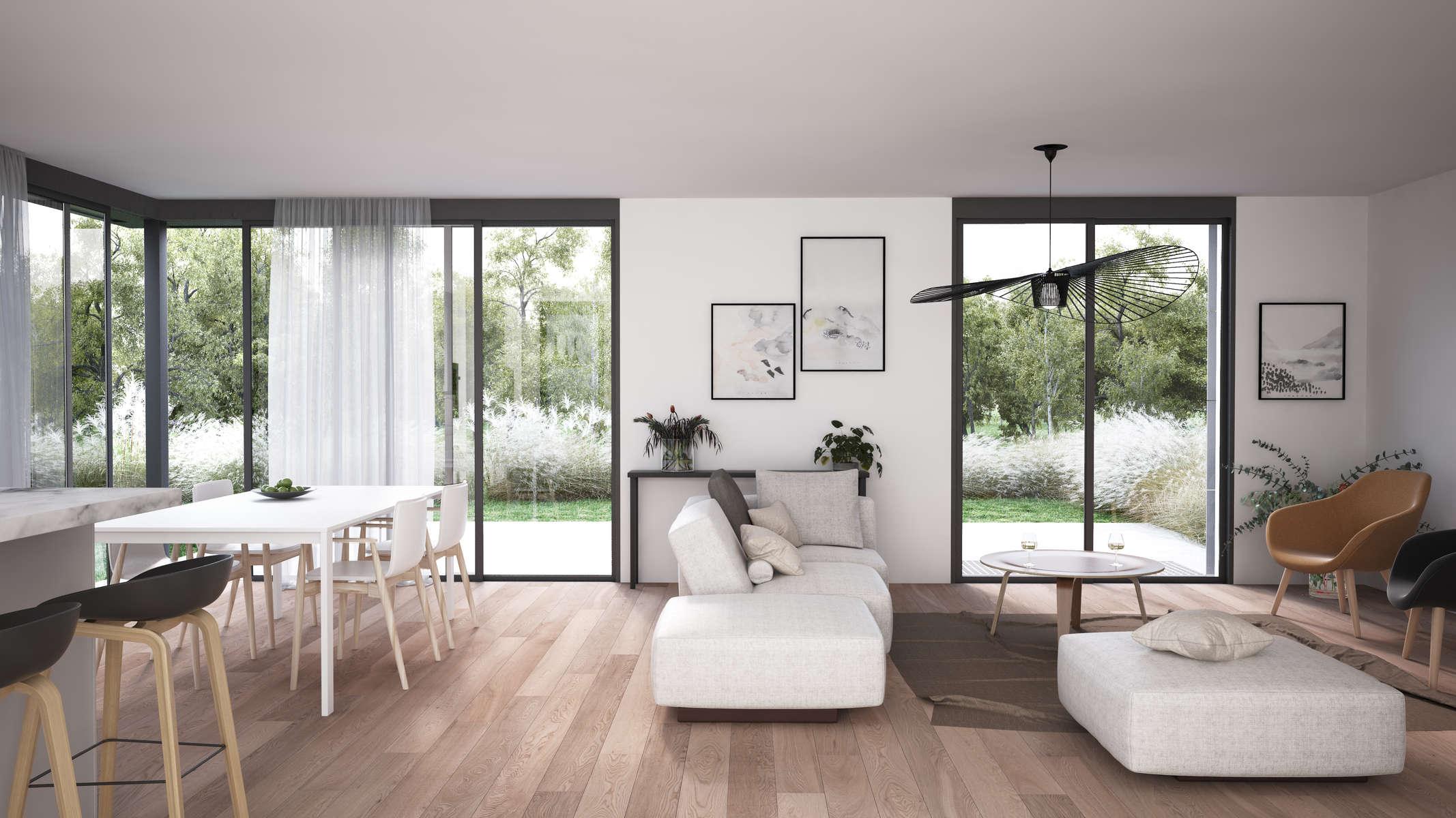 (ris+partenaires 2018 en cours)Projet: Construction de 2 villas mitoyennesVeyrier - Suisse Surface: 391 m2 Chef de projet:Antoine Ris Mandat: Projet
