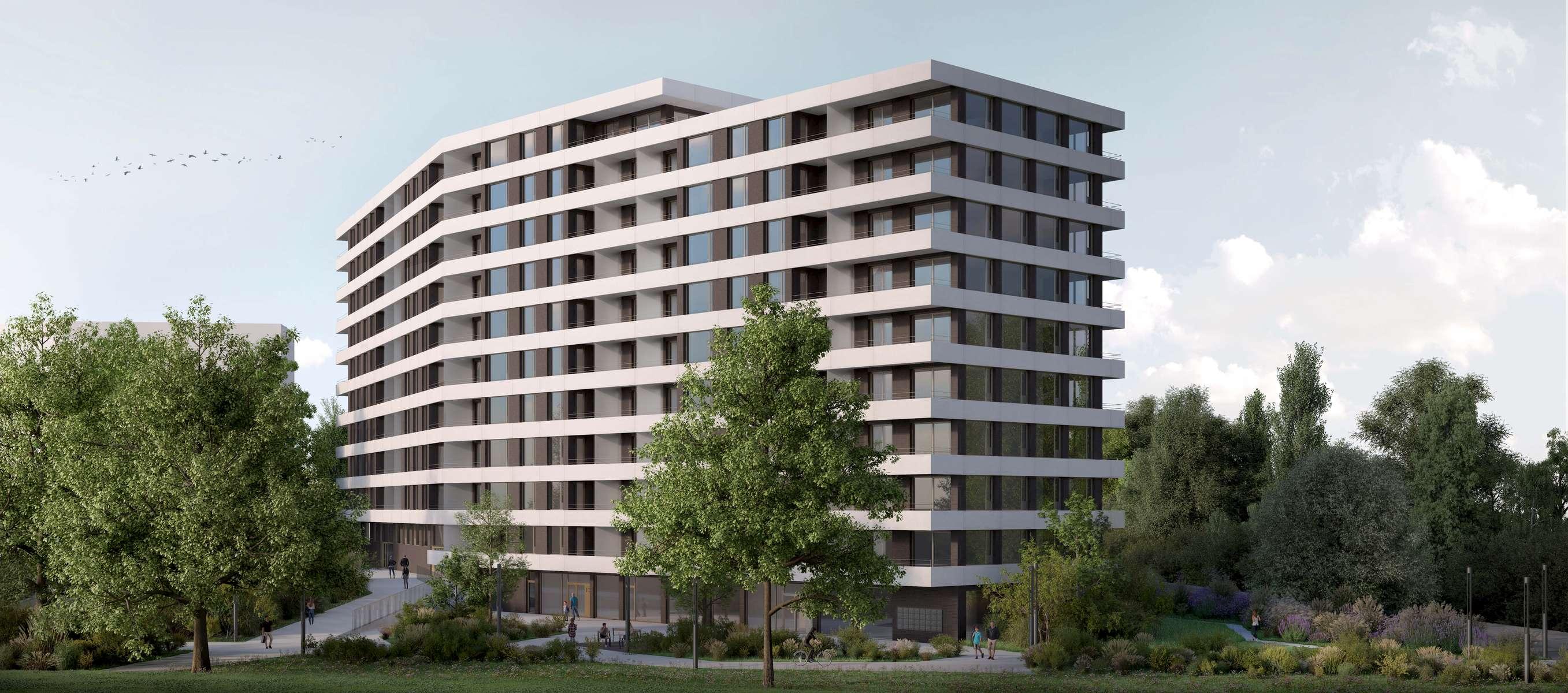 (ris+partenaires 2017)Projet: Bâtiment de logements, commerces et parking souterrainGenève - Suisse Surface: 12'500 m2 Chef de projet:Raoul FrauenfelderMandat: Projet et construction