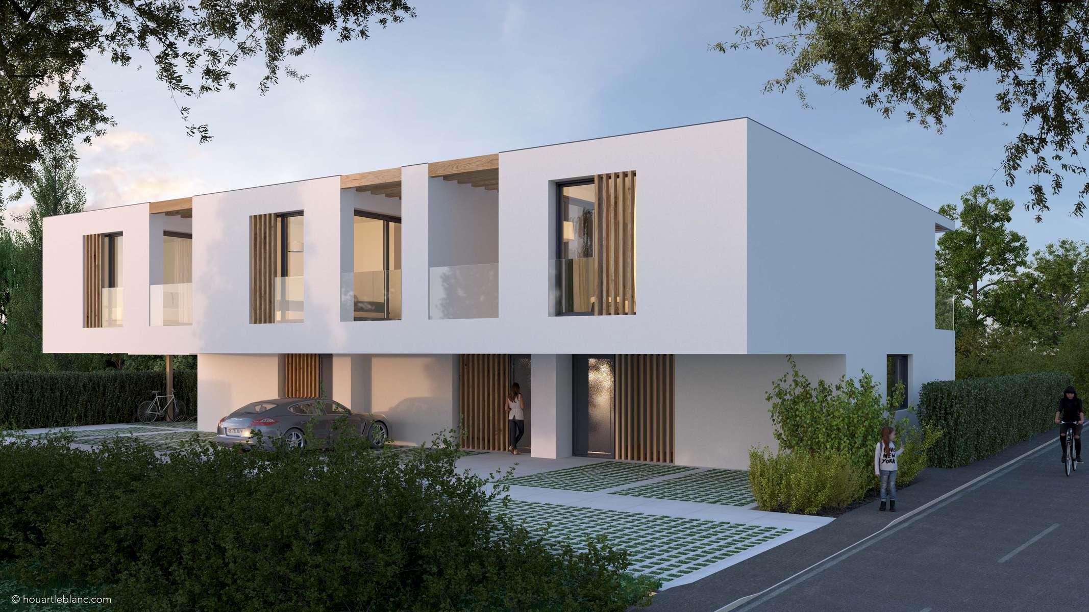 (ris+partenaires 2018 en cours)Projet: Construction de 3 habitations contigüesPregny-Chambésy - SuisseSurface:429 m2Chef de projet:Antoine RisMandat: Projet