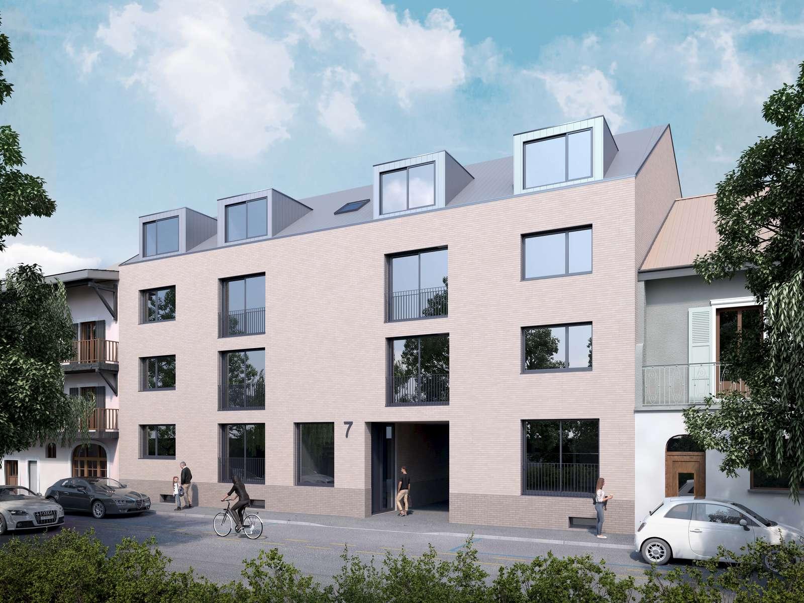 (ris+partenaires 2018)Projet: Immeuble de 7 logementsCarouge - SuisseSurface: 943 m2Chef de projet:Antoine RisMandat: Projet et réalisation