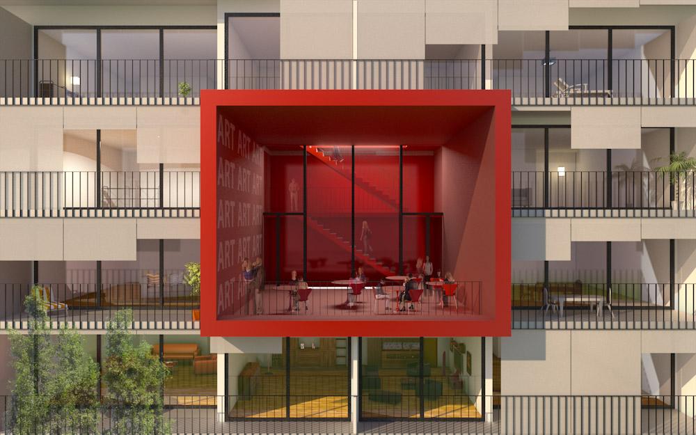 (ris-chabloz 2009)Projet :Logements économiques - 163 logementsCharmilles - Genève - SuisseSurface :17'250 m2Chef de projet :Antoine Ris Olivier WyssmullerMandat :Concours