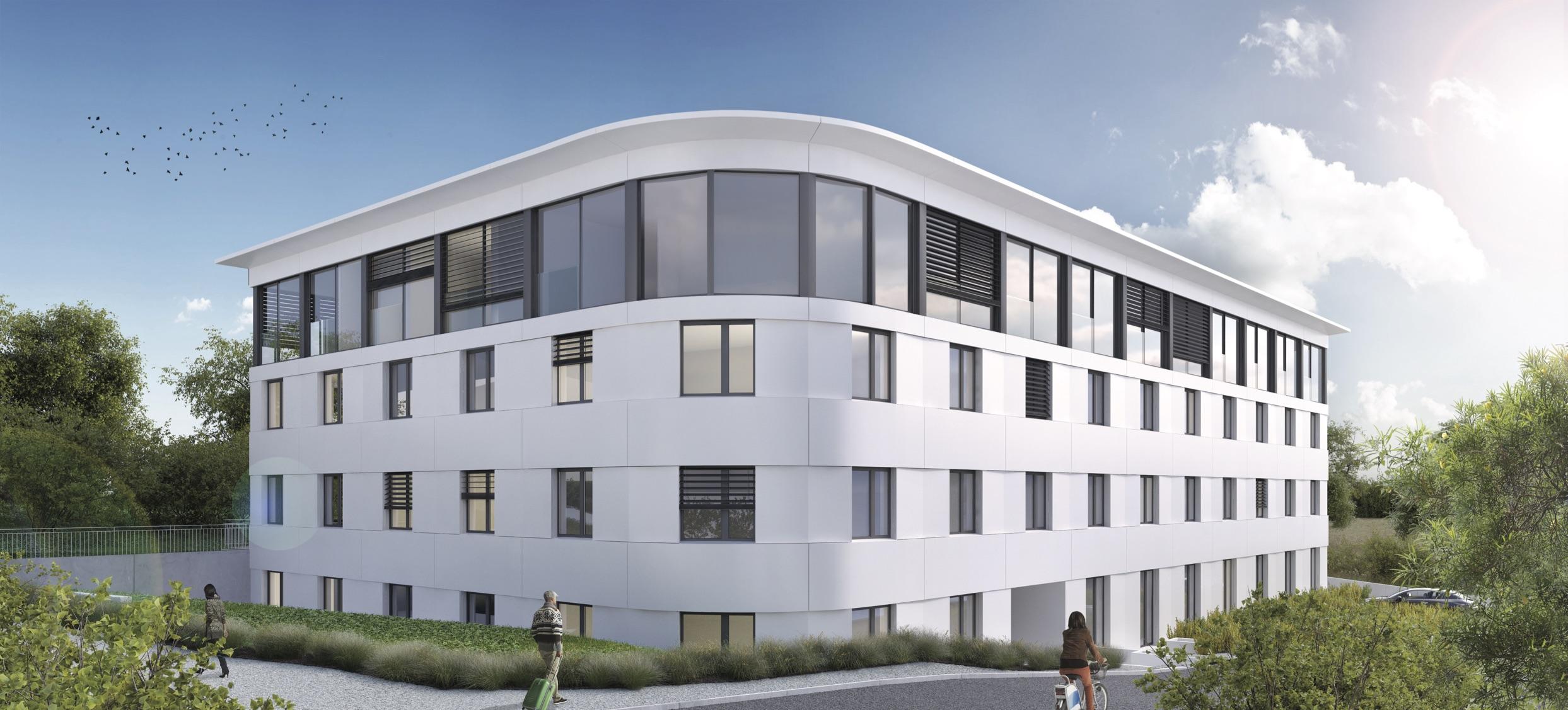 (ris+partenaires 2017 en cours)Projet:Immeuble de logementsEchandens - SuisseSurface: 4'160 m2 Chef de projet:Antoine RisBernd HardenMandat: Projet et construction