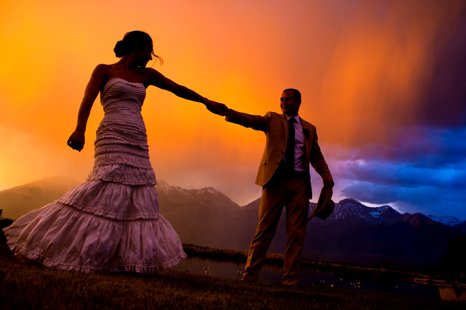 Wedding Portrait near Ketchum Sun Valley Idaho by Photographer Craig Wolfrom