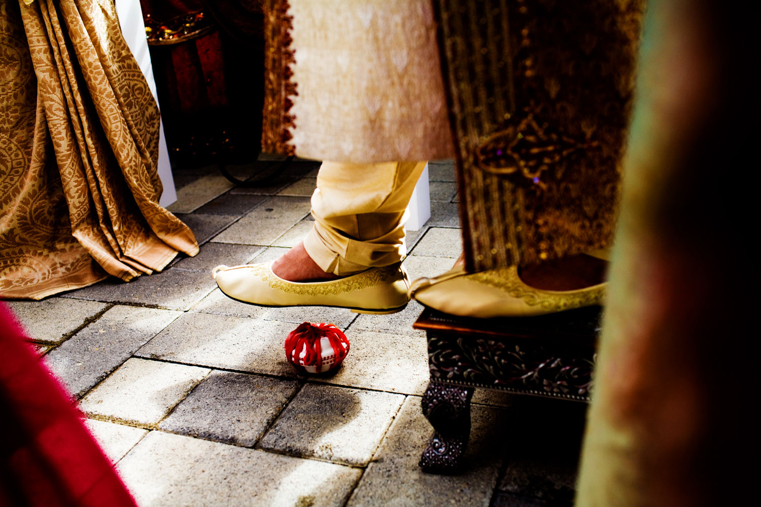 Detail image during an indian wedding ceremony in the Oakland, California.