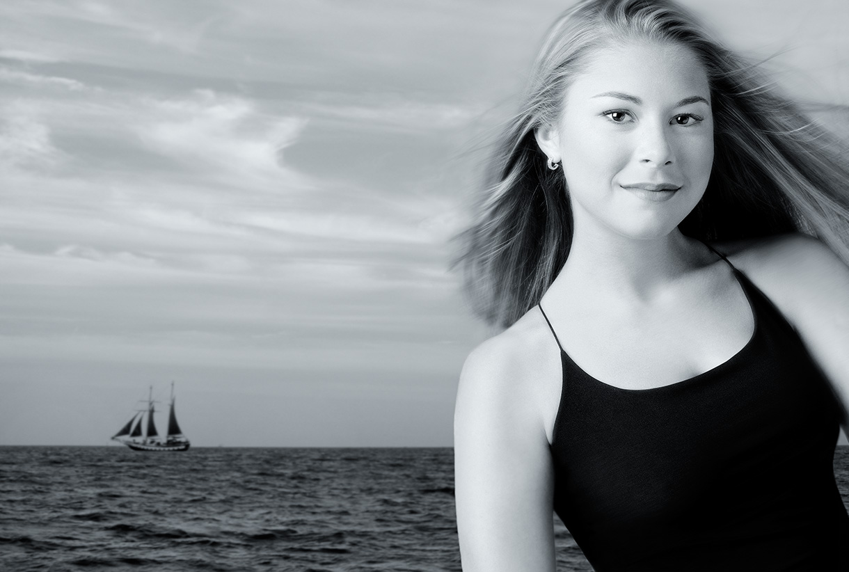 Becca with Sailboat
