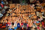 shoe display in the old marketSiem Riep, Cambodia