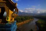 view up the Nam Khan River from Mount PhousiLuang Prabang, Laos