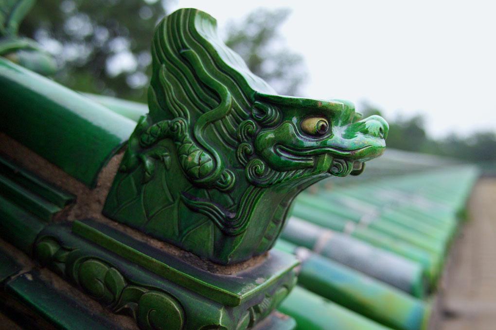 porcelain dragon roof corniceTemple of HeavenBeijing