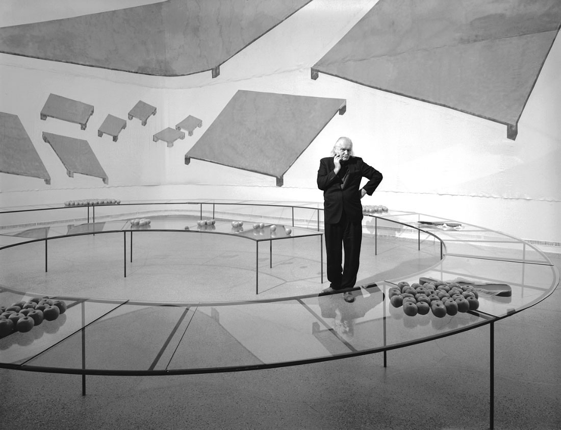 Mario Merzconceptual artistat the Guggenheim, NYC