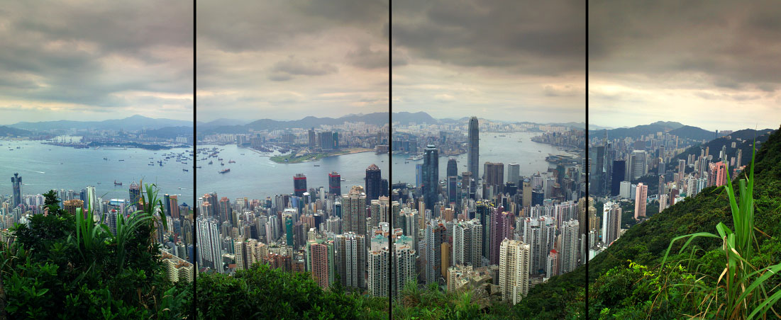 view from Victoria's Peakof downtown and the harborHong Kong